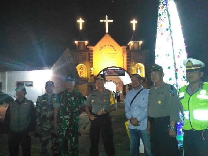 Pastikan Keamanan Natal, Polres Lampung Timur Sambangi 3 Gereja