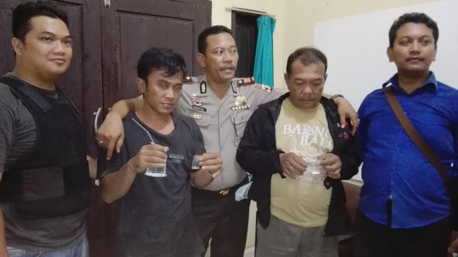 Kurir dan bandar narkoba berhasil diamankan Polsek Abung Barat Kabupaten Lampung Utara. | Defri/Jejamo.com