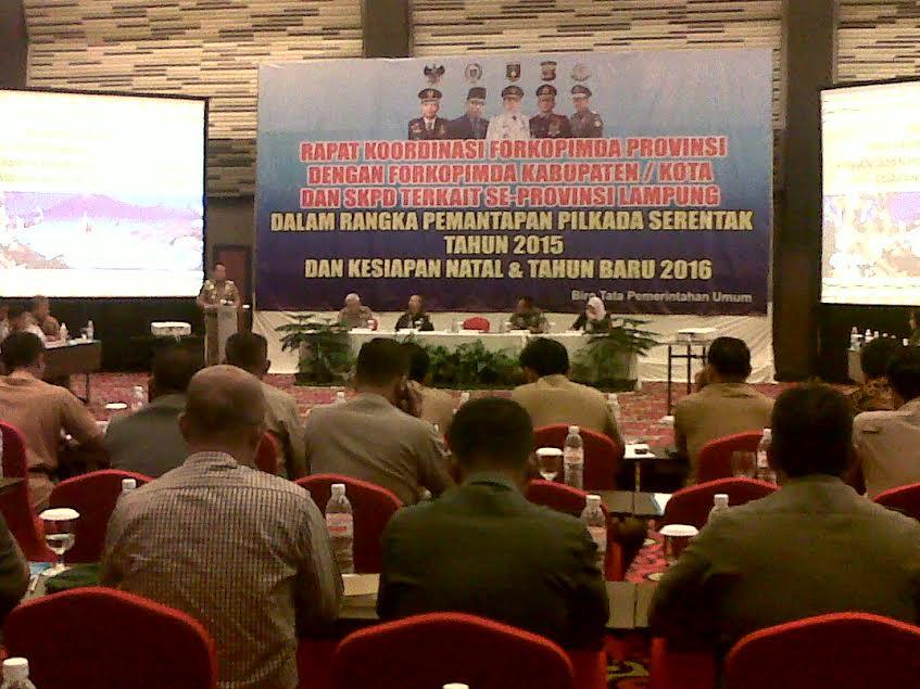 Gubernur Datang Terlambat, Rakor Forkopimda se-Lampung Molor 1,5 Jam