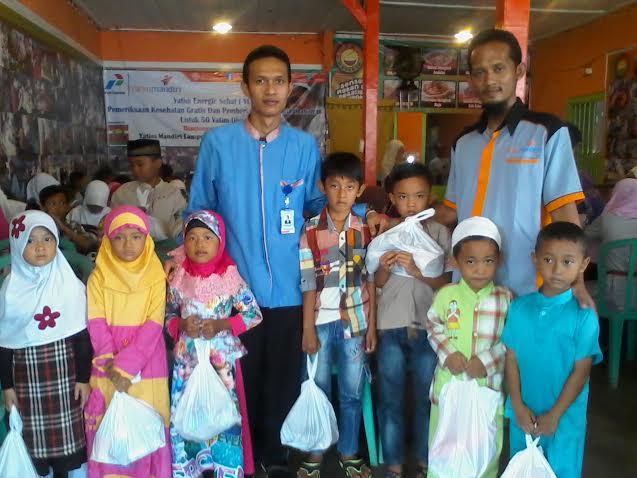 Yatim Mandiri Lampung dan Yatim Mandiri Palembang, menggelar Yatim Energic Sehat (YES), Kamis 24/12/2015. | Sigit/Jejamo.com
