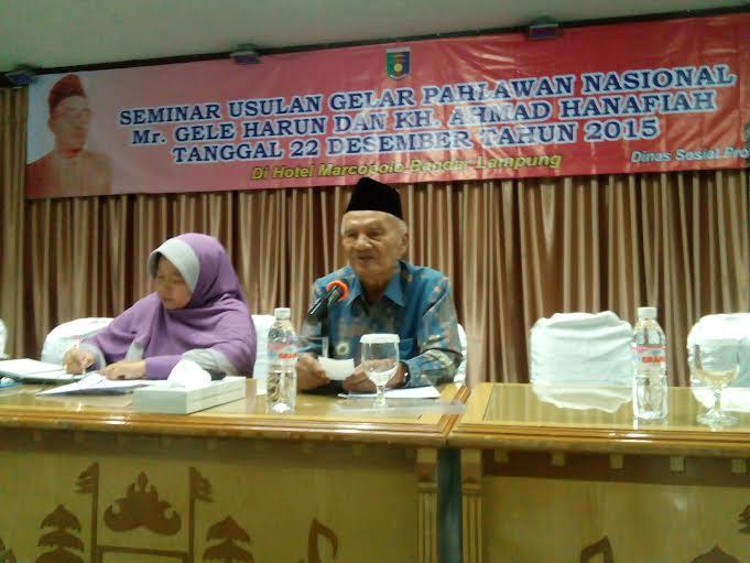 Arif Mahya, Saksi Sejarah Perjuangan Mr. Gele Harun dan KH. Ahmad Hanafiah