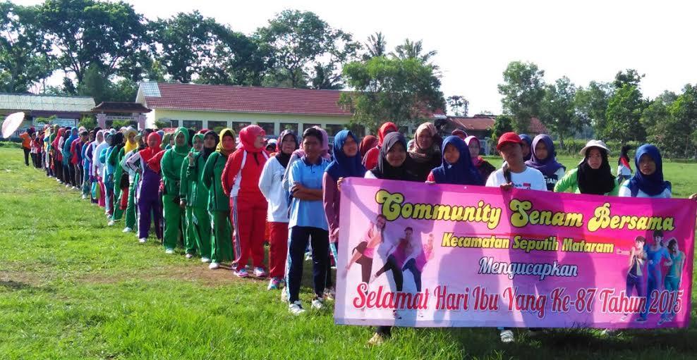 Beginilah Kaum Perempuan di Lampung Tengah Peringati Hari Ibu