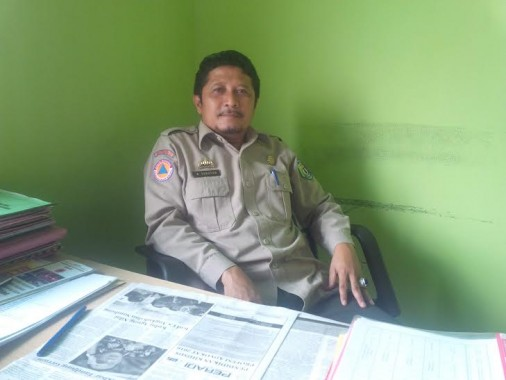 Sekretaris Badan Penanggulangan Bencana Daerah (BPBD) Pringsewu Bambang Sukaton | Kholik/jejamo.com