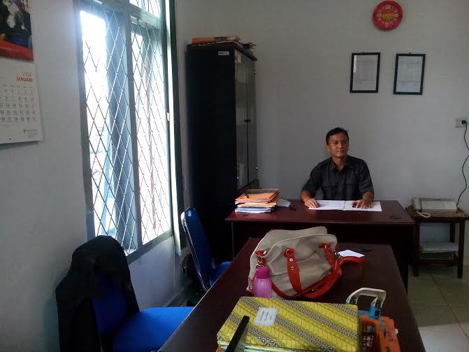 Penjabat Seksi Distribusi BPS Lampung Utara Ade Fitriansyah | Buhairi/jejamo.com