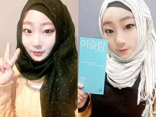 Cantiknya Hijaber Korea yang Berprofesi Sebagai Guru Bahasa Arab Ini