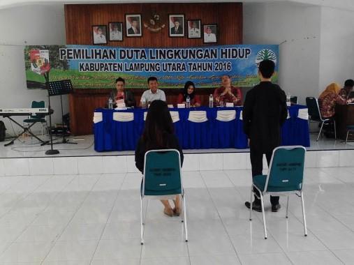 Pemkab Lampung Utara Gelar Pemilihan Duta Lingkungan Hidup