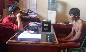 Guwanto (40), warga Tulung Batuan, Kelurahan Tanjung Harapan, Kecamatan Kotabumi Selatan, Lampung Utara, ditangkap Polres setempat karena mencabuli anak tirinya yang masih berusia di bawah umur | Defri/jejamo.com
