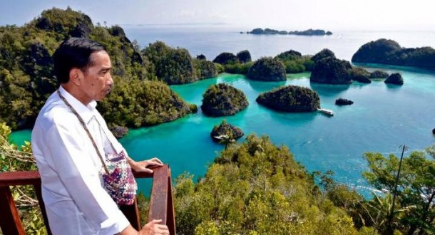 Jokowi di Raja Ampat