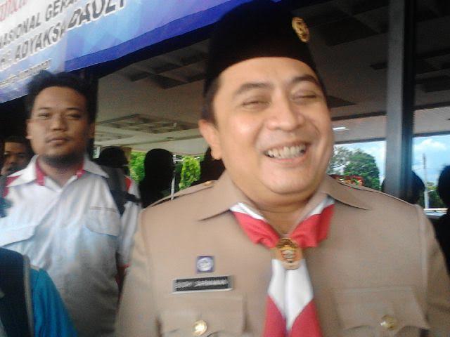 Kepala Dinas Bina Marga, Budi Darmawan saat ditemui media di Balai Keratun lingkungan Pemprov Lampung,  Rabu, 13/1/2016 | Arif/jejamo.com