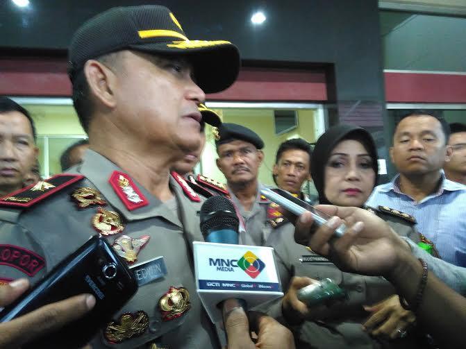 Kapolda Lampung Brigjen Pol Ike Edwin memberikan pernyataan mengenai penangkapan Santoni, warga Melinting, Lampung Timur yang diduga sebagai pelaku begal |Andi/jejamo.com