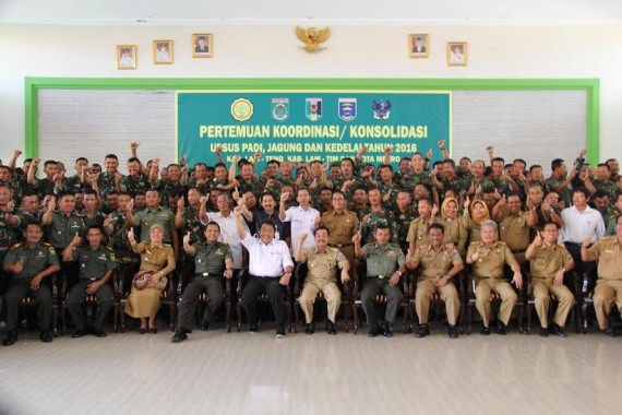 Tingkatkan Produksi Pangan, Pemkot Metro Konsolidasi dengan Kodim 0411/LT