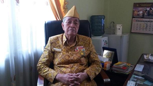 Ketua DPC Legiun Veteran Republik Indonesia (LVRI) kabupaten Lampung Saleh Ahmad | Lia/jejamo.com