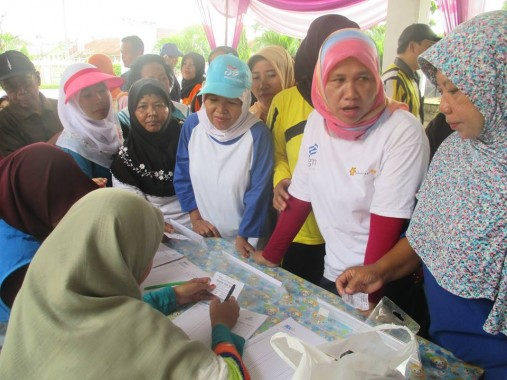 Program Mobil Sehat PGN-PKPU Lampung diadakan di Kecamatan Terusan nunyai, Lampung Tengah, 23-24 Januari 2016. | Dokumentasi PKPU Lampung