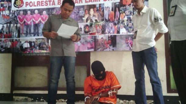 Pelaku Curanmor Ditangkap Tekab 308 Polres Bandar Lampung
