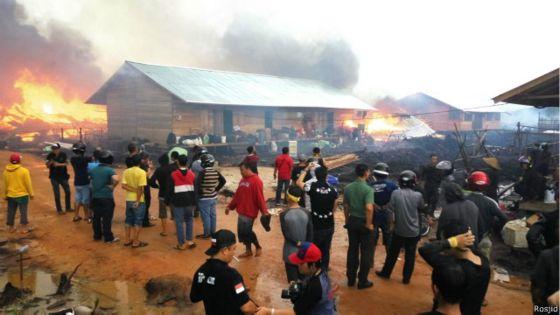 Pemusnahan camp Gafatar di Kalimantan | ist
