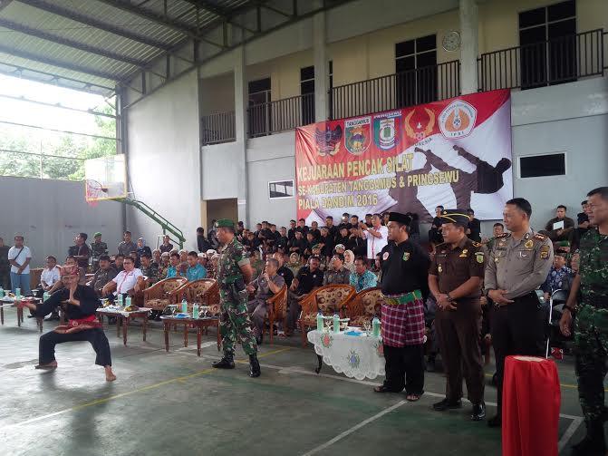 Peringati HUT Kodam Sriwijaya, Kodim 0424 Tanggamus Gelar Kejuaraan Pencak Silat