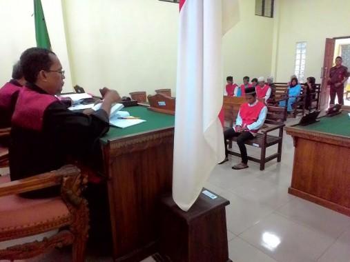 Andi Wibowo (25), warga Jalan Purnawirawan Gang Swadaya Gunungterang, Tanjungkarang Barat, dihukum 15 tahun penjara karena karena  menyimpan 6 kilogram ganja siap edar, Kamis, 21/1/2016. | Andi Apriyadi/Jejamo.com