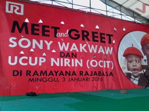ini Soni Wakwak dan Ucup Nirin akan menghibur pengunjung Ramayana Robinson, Rajabasa, Bandar Lampung, Minggu besok | Sigit/jejamo.com