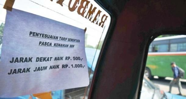 Harga BBM Turun, Tarif Angkutan Umum di Pringsewu Belum Berubah