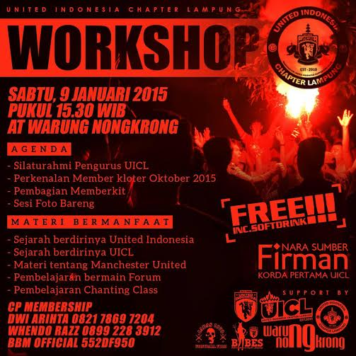 United Indonesia Chappter Lampung akan gelar Workshop di Warung Nongkrong