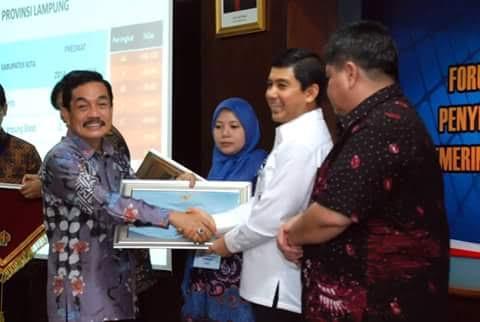 Pemkot Metro Terima Penghargaan Akuntabilitas Kinerja Pemerintah dari Kemenpan RB