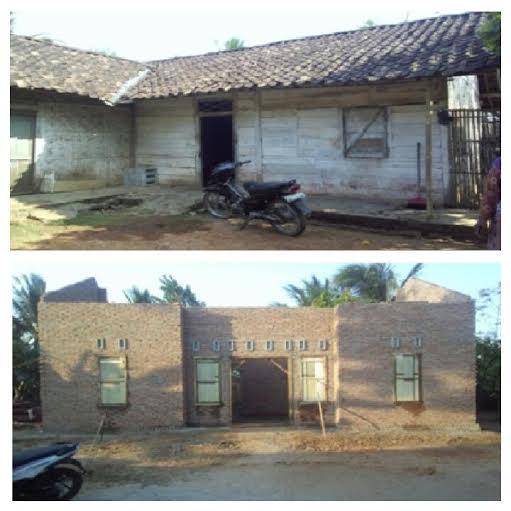 Inilah salah satu rumah tidak layak huni di Kota Metro yang telah diperbaiki. | Tyas/Jejamo.com