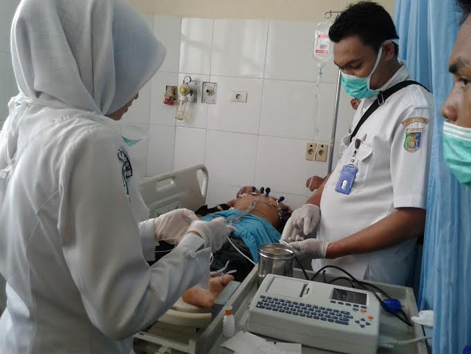 Santoni, begal dari Lampung Timur dihadiahi timah panas dari petugas Polsekta Sukarame Bandar Lampung. | Andi Apriadi/Jejamo.com