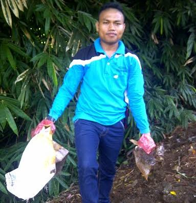 Cegah DBD, Warga Tanjung Aman Lampung Utara Bersih-bersih Sungai