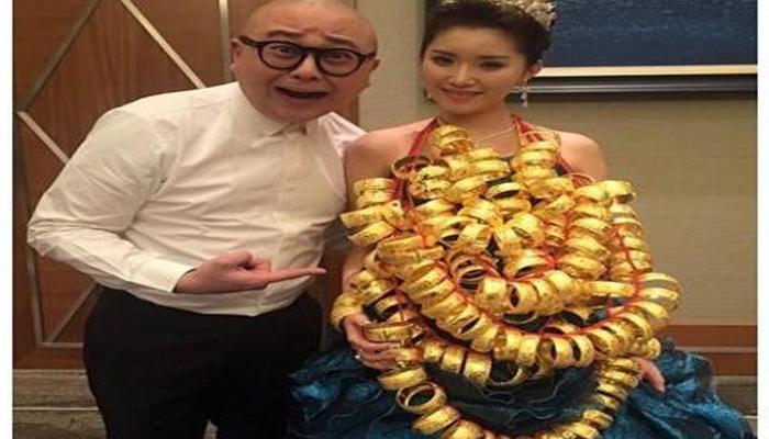PErnikahan bertabur emas hebohkan masyarakat China. | Ist.