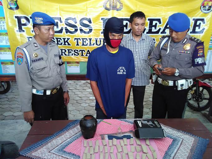 Polsekta Telukbetung Barat Bandar Lampung Bekuk Residivis Pengedar Ganja