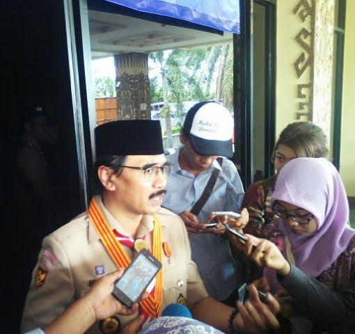 Ka Kwarnas Lantik Pengurus Pramuka Lampung 2015-2020