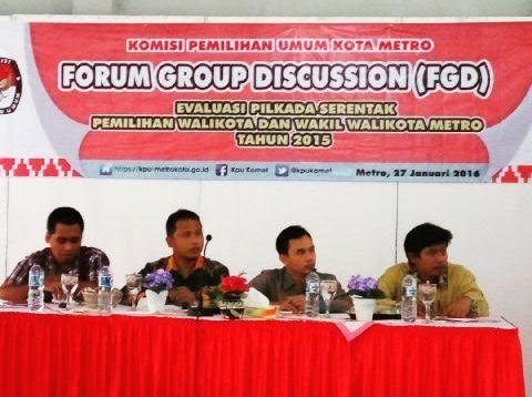 Evaluasi Pilkada Serentak, KPU Kota Metro Gelar FGD