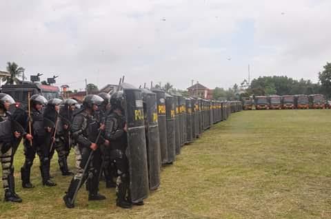 Pj. Bupati Lampung Timur Tutup Simulasi Pengamanan Pelantikan Kepala Daerah