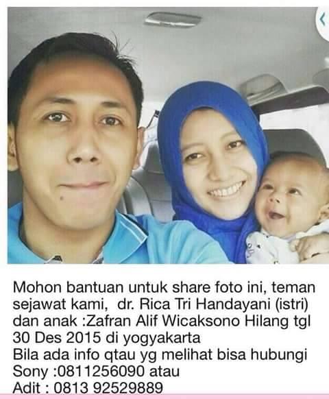 Rica Tri Handayani beserta suami dan anak. | Ist.