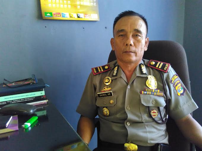 Kapolsek Kecamatan Tulangbawang Udik dan Tumijajar, Iptu Sainul. | Buhairi/Jejamo.com