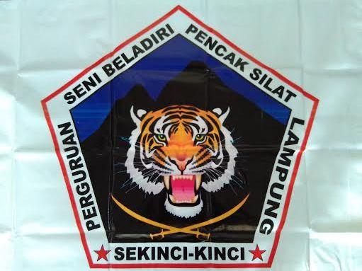 Lambang perguruan pencak silat Sekinci-kinci Kotabumi Lampung Utara. | Wahyu/Jejamo.com