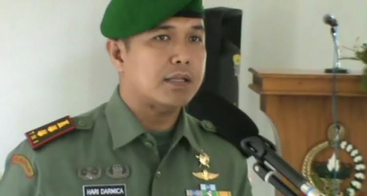 Pasi Intel Kodim 0411/Lampung Tengah Lettu Inf. Suprobo. | Ist.