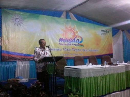 Musda ke-II, Ketua DPD Golkar Pringsewu Ajak Kader Hilangkan Perbedaan