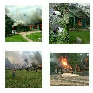 Bentrok Bunga Mayang Lampung Utara, 40-an Rumah Dibakar