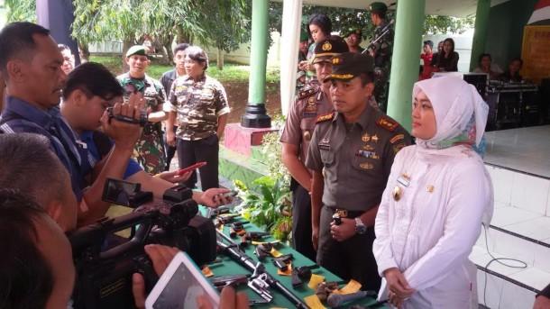 Kodim 0411 Lampung Tengah Terima 53 Pucuk Senjata Api Rakitan