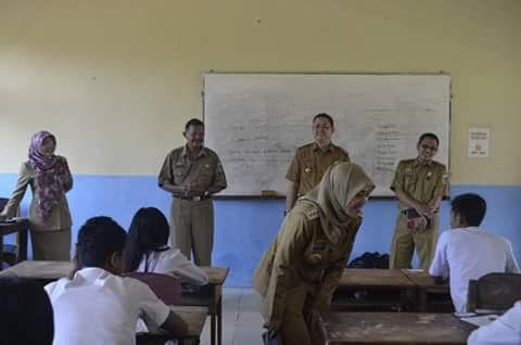 Bupati Kunjungi SMP Negri 1 Waway Karya Lampung Timur