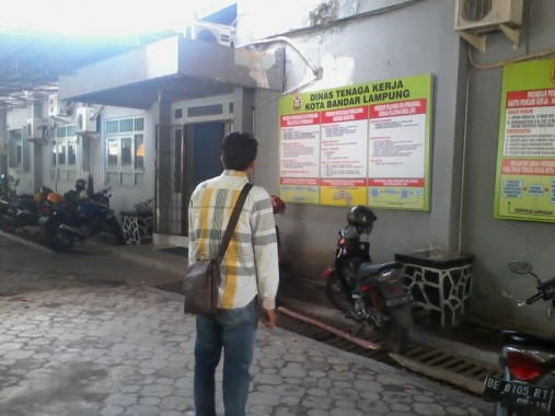 Kantor Disnaker Bandar Lampung. | Sigit Sopandi/Jejamo.com
