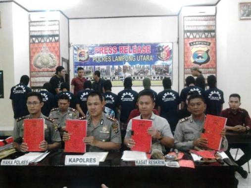 Polres Lampung Utara Gelar Ekspose Kasus Pembakaran Kampung Sukadana Ilir