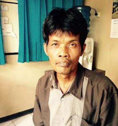 Giyarso, otak pembunuhan Muhamamd Jaya Pratama (13) ditangkap Polres Lampung Utara. | Lia/Jejamo.com
