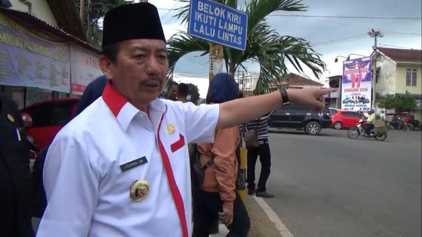 Herman HN Tinjau Jalan Gajah Mada Bandar Lampung