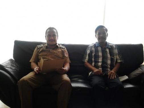 Kepala Biro Jejamo.com Buhairi Aidi Kunjungi Humas DPRD Tulang Bawang