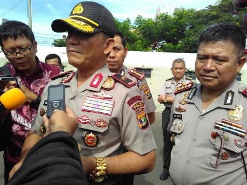 Kapolda Lampung Brigjen Ike Edwin berencana bermalam di Sukadana Ilir, Kecamatan Bunga Mayang, Lampung Utara, yang siang tadi menjadi lokasi bentrok, Selasa, 2/2/2016. |Buhairi Aidi/Jejamo.com