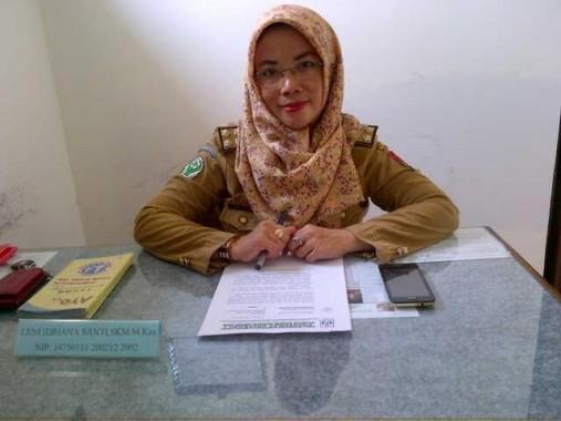 Kepala Puskesmas Kotabumi I Lamp;ung Utara Leni Idriana Shanty. | Prika/Jejamo.com