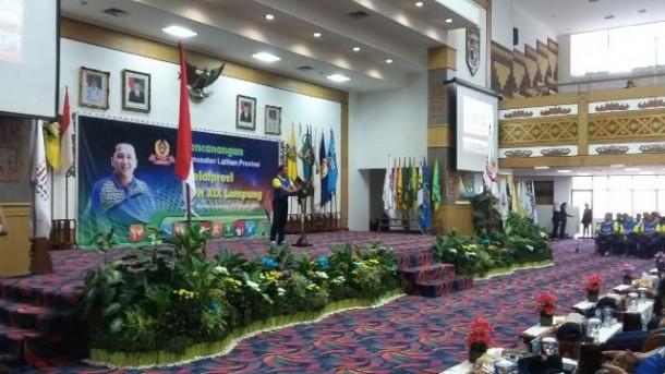 Ketua Tim Satuan Pelaksana (Satlak) KONI Lampung Kolonel Infanteri Joko P. Putranto. | Arif Wiryatama/Jejamo.com