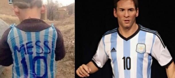 Messi Ingin Temui Bocah Afganistan Berseragam Katong Plastik